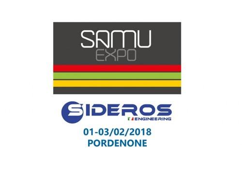 SIDEROS ENGINEERING sarà presente a SamuExpo salone SamuMetal a Pordenone Fiere dal 1 al 3 febbraio 2018