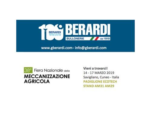 I sistemi di fissaggio di BERARDI BULLONERIE alla Fiera della Meccanizzazione Agricola 2019