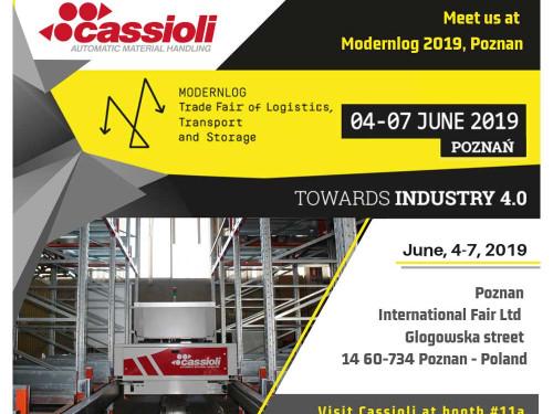 La logistica industriale di CASSIOLI al Modernlog 2019