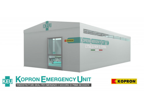 Tendostrutture per creare velocemente spazi per emergenze: il nuovo kit pronto all'uso di KOPRON