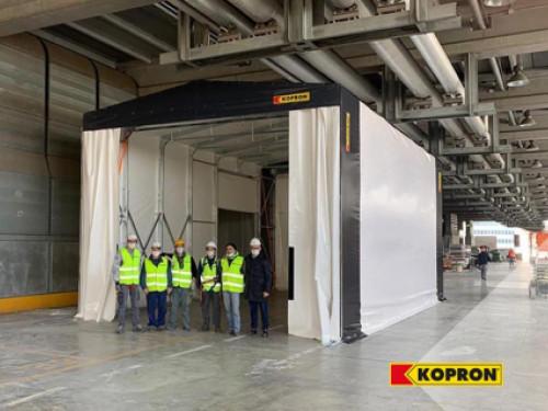 KOPRON dona una tendostruttura per il nuovo Ospedale alla Fiera di Milano per l'emergenza Coronavirus