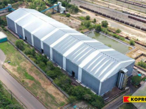 KOPRON realizza il capannone industriale in telo PVC più grande del Sud America
