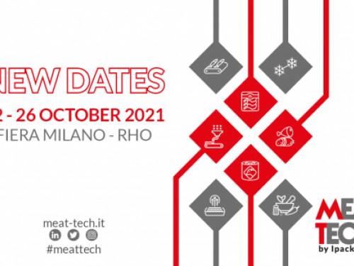 La fiera MEAT-TECH cambia data e passa a ottobre 2021 a Milano con TuttoFood