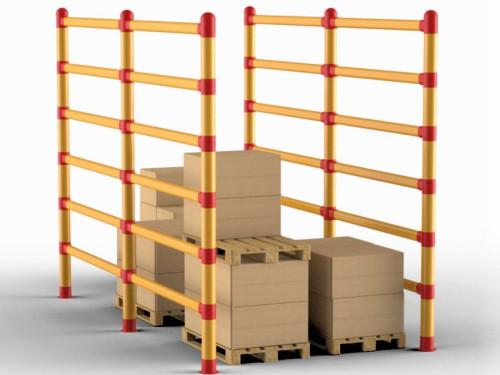 Nuova barriera anticaduta per la sicurezza nella logistica da STOMMPY