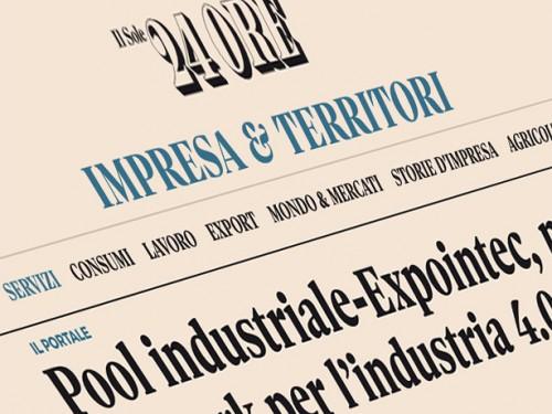 Il Sole 24 ORE parla di POOL INDUSTRIALE - EXPOINTEC