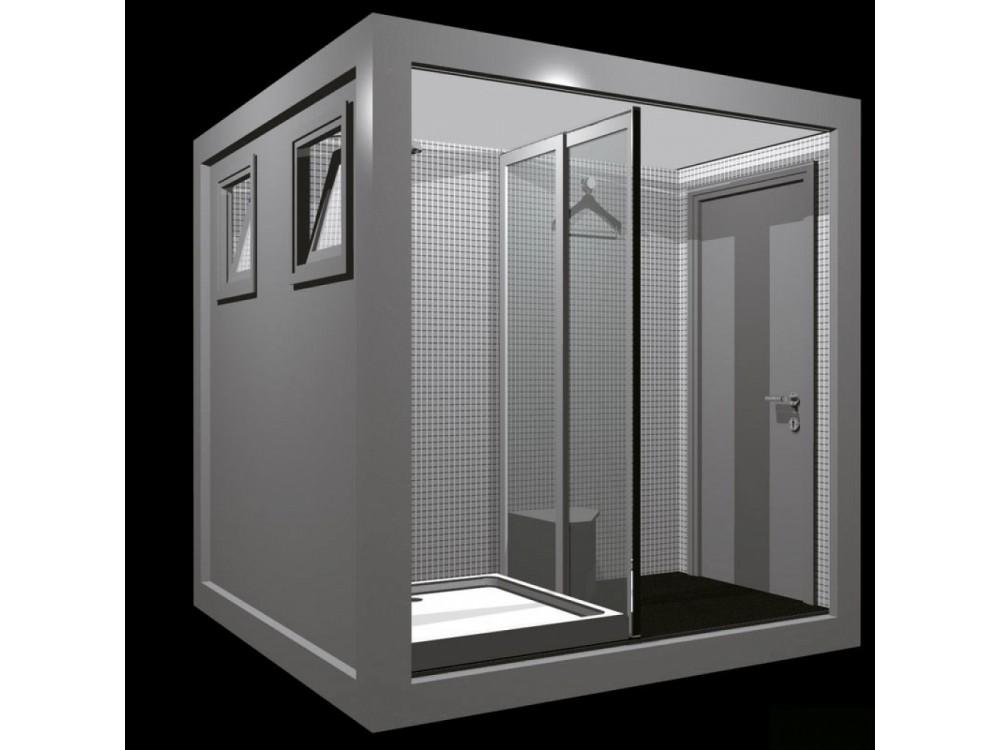 Monoblocco con due docce Grey in versione luxe