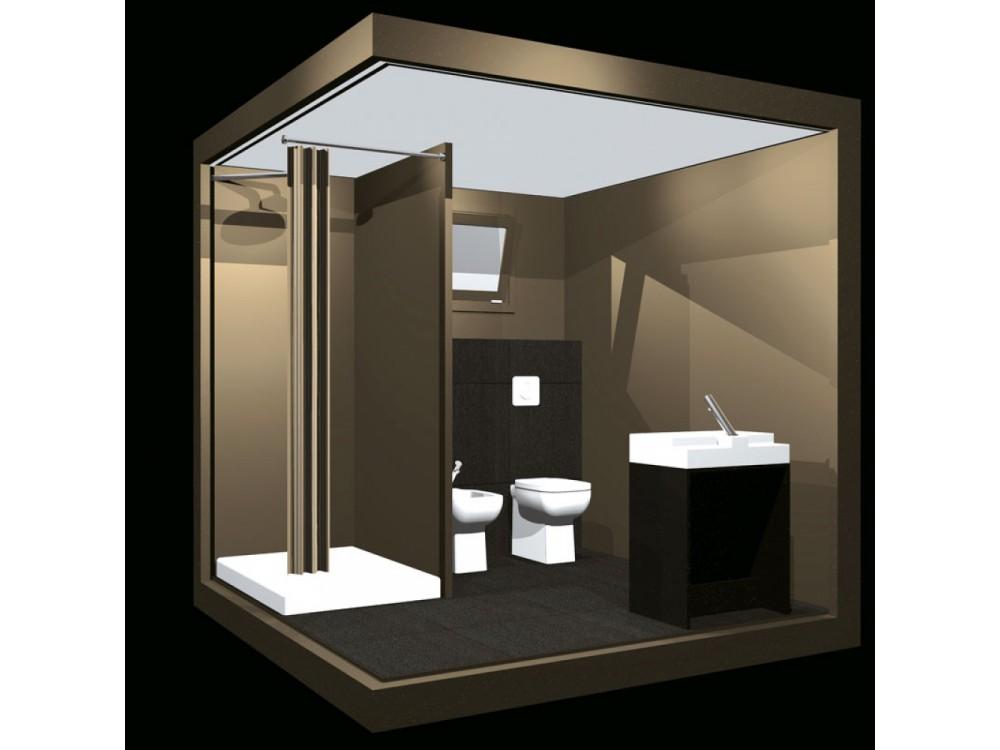 Modulo bagno completo Cube Bronze