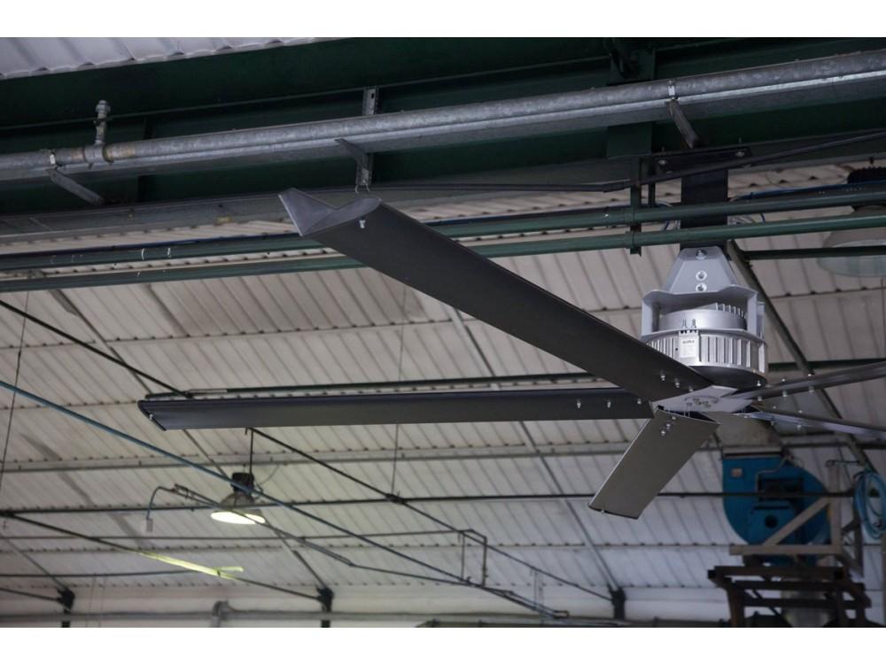 Destratificatore ventilatore a pale serie Wd5000 per ambienti speciali
