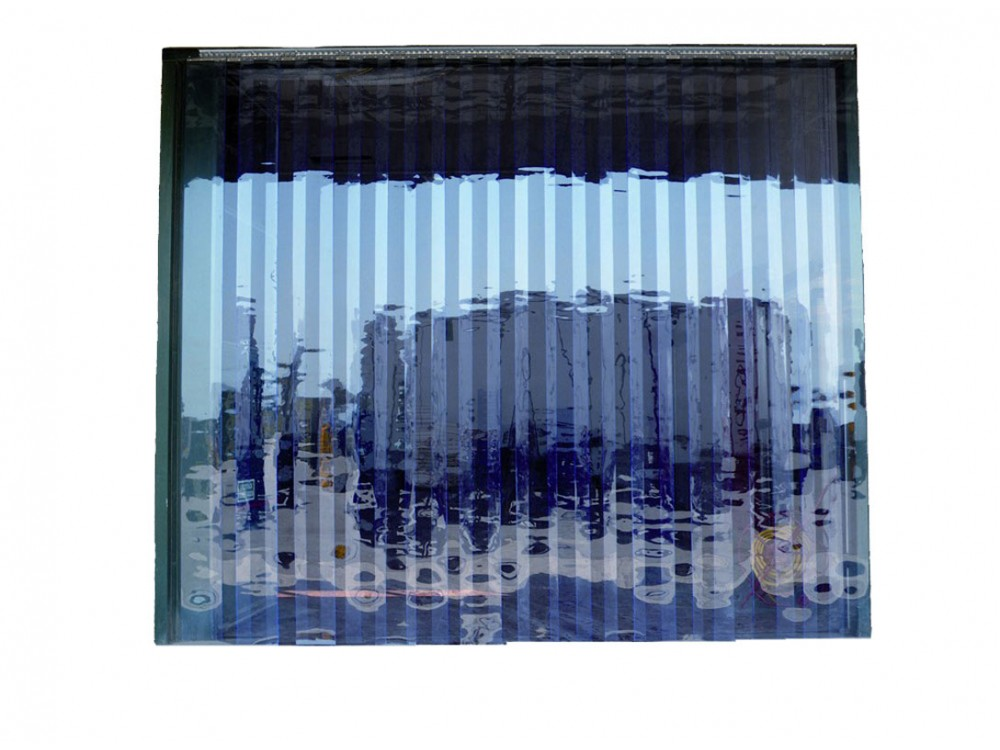 Grande porta flessibile in PVC trasparente