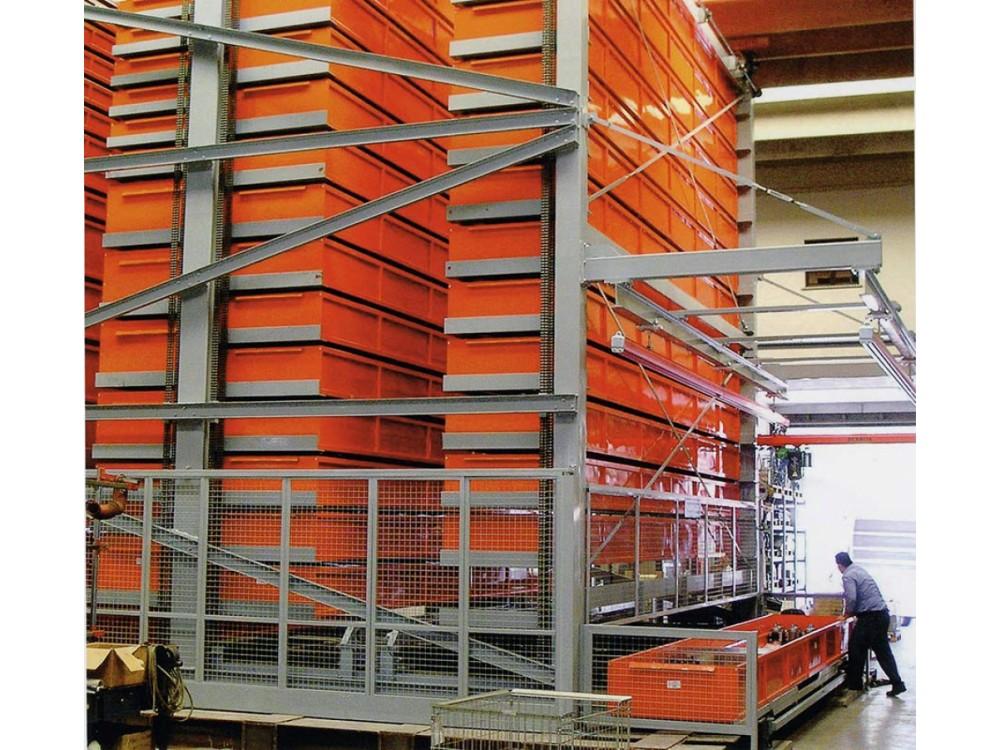 Magazzino a cassetti per componenti pesanti Bi.Mag.Maxi