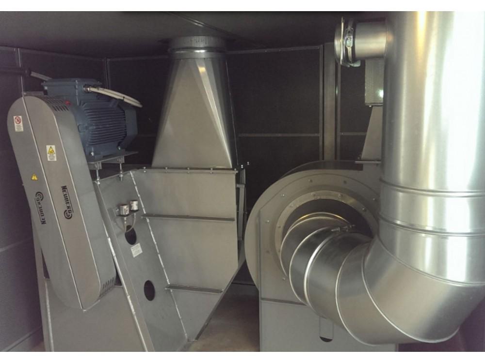 Impianto con tubi Venturi per trasporto film