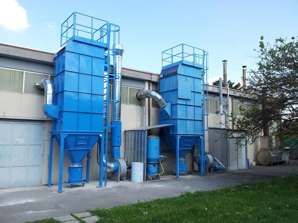 Impianto di depolverazione industriale
