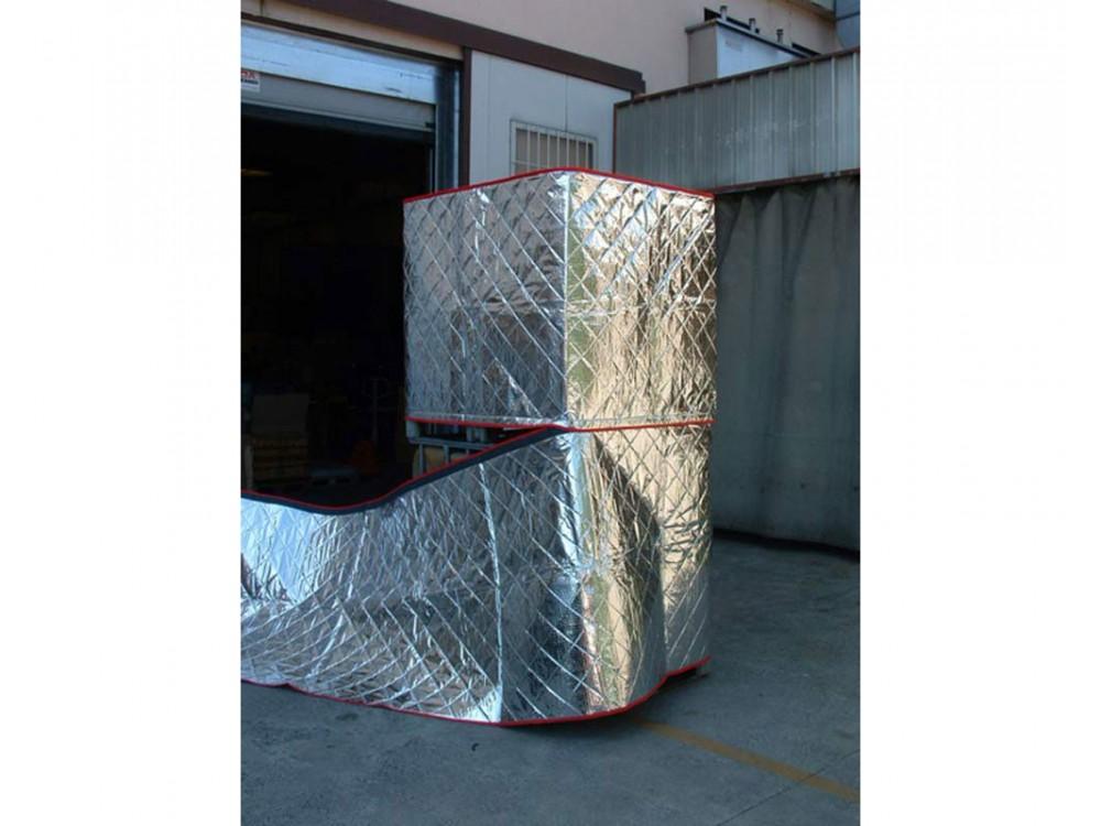Coperte termiche di protezione su imballo pallettizzato