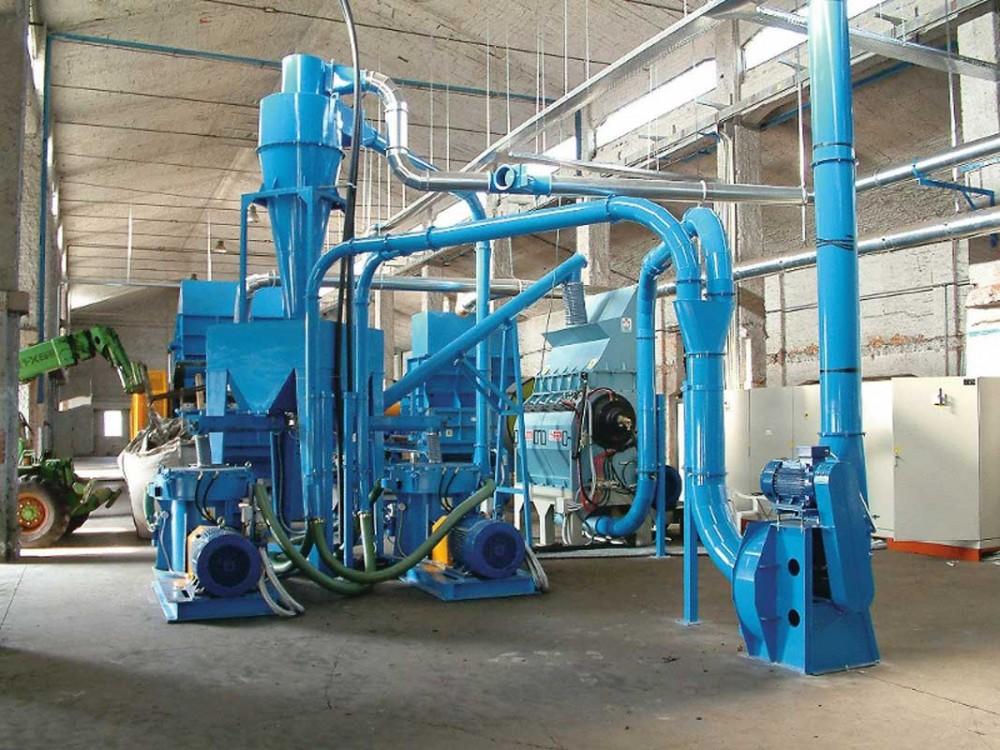 Impianto di macinazione, trasporto e recupero scarti PVC
