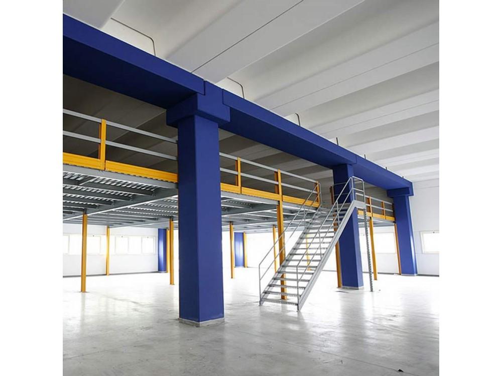 Soppalco in carpenteria metallica per grandi portate