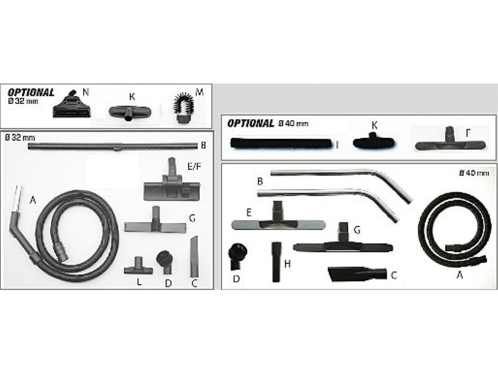Accessoristica per ogni tipo di aspirapolvere e macchina per pulizia FIORENTINI