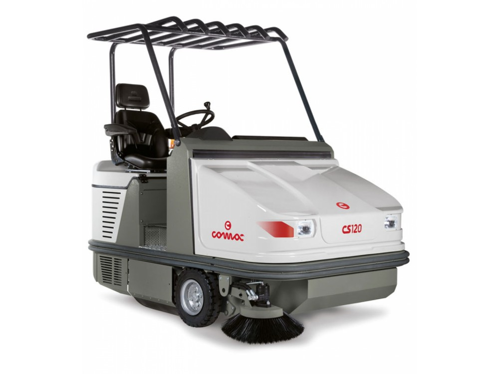 Motospazzatrice COMAC CS120 per grandi magazzini e parcheggi