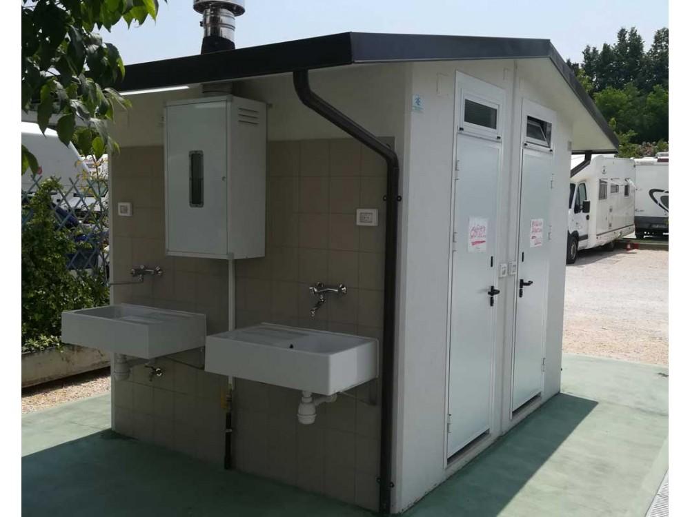 Box bagni prefabbricati in calcestruzzo per servizi igienici