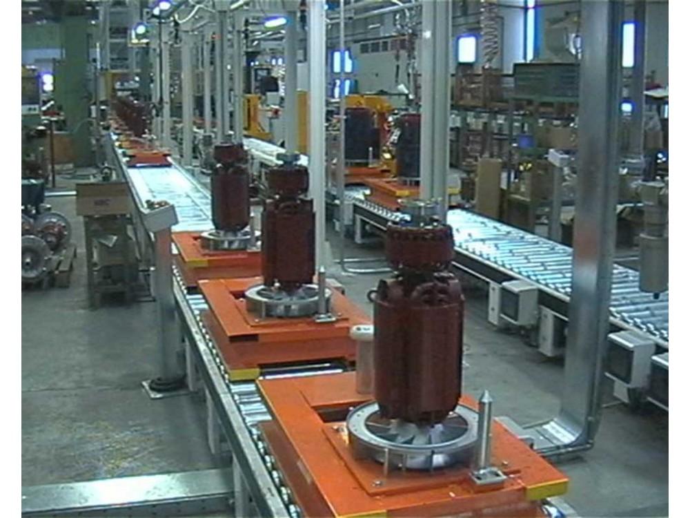 Linea di montaggio automatico parti meccaniche