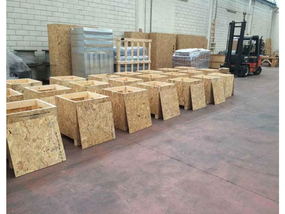 Casse in pannelli di legno fenolico OSB multistrato