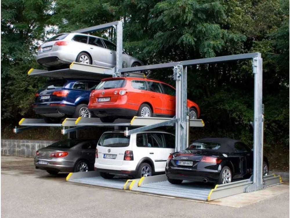 Sdoppiatore di parcheggi a tre livelli