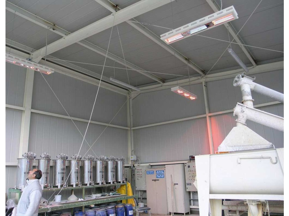Riscaldatore elettrico a raggi infrarossi per ambienti interni
