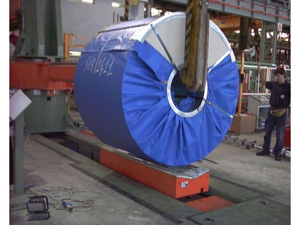 Impianto di pesatura coil su culla mobile