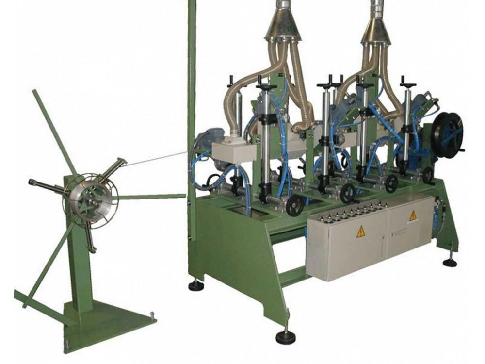 Spazzolatrice per pulizia e lucidatura fili in acciaio
