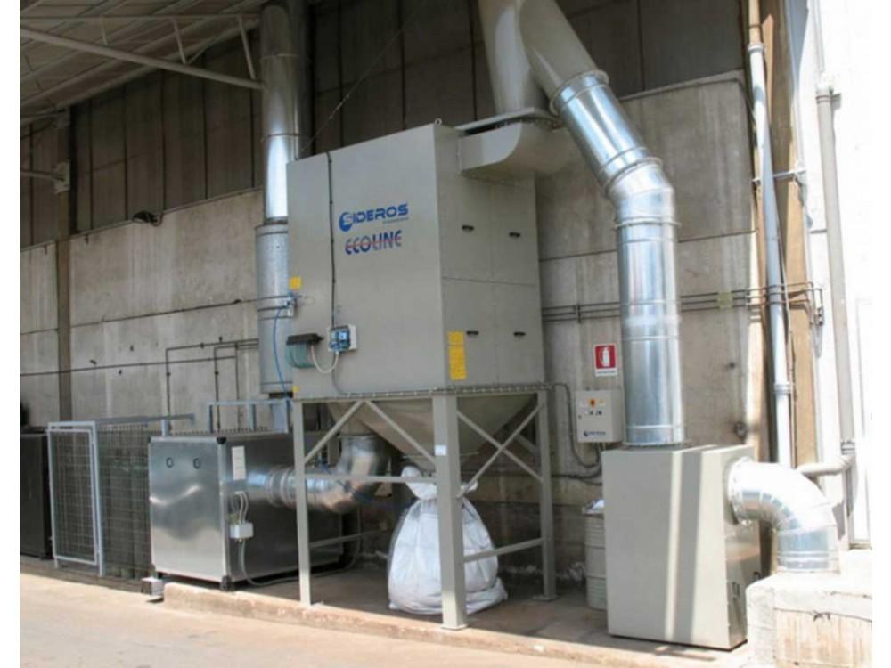 Sistema con filtro a cartucce ATEX per leghe d'alluminio
