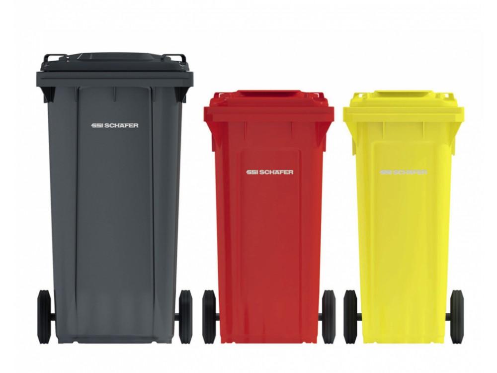 Cassonetti per rifiuti in HDPE con coperchio