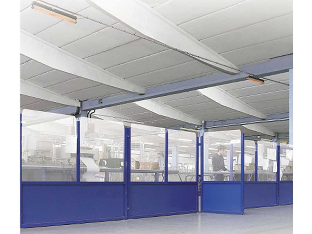 Divisori componibili in alluminio per delimitazione zone operative