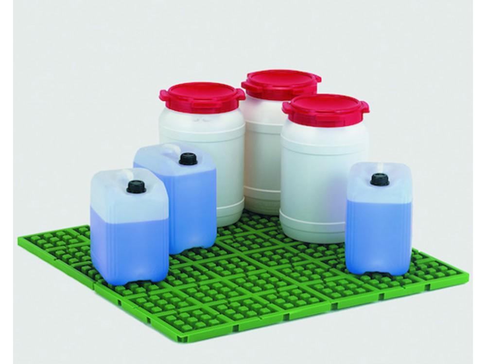 Pedana di contenimento con elementi modulari a tenuta stagna