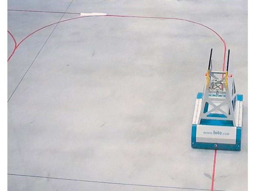 Carrello trasportatore autoguidato a traccia ottica