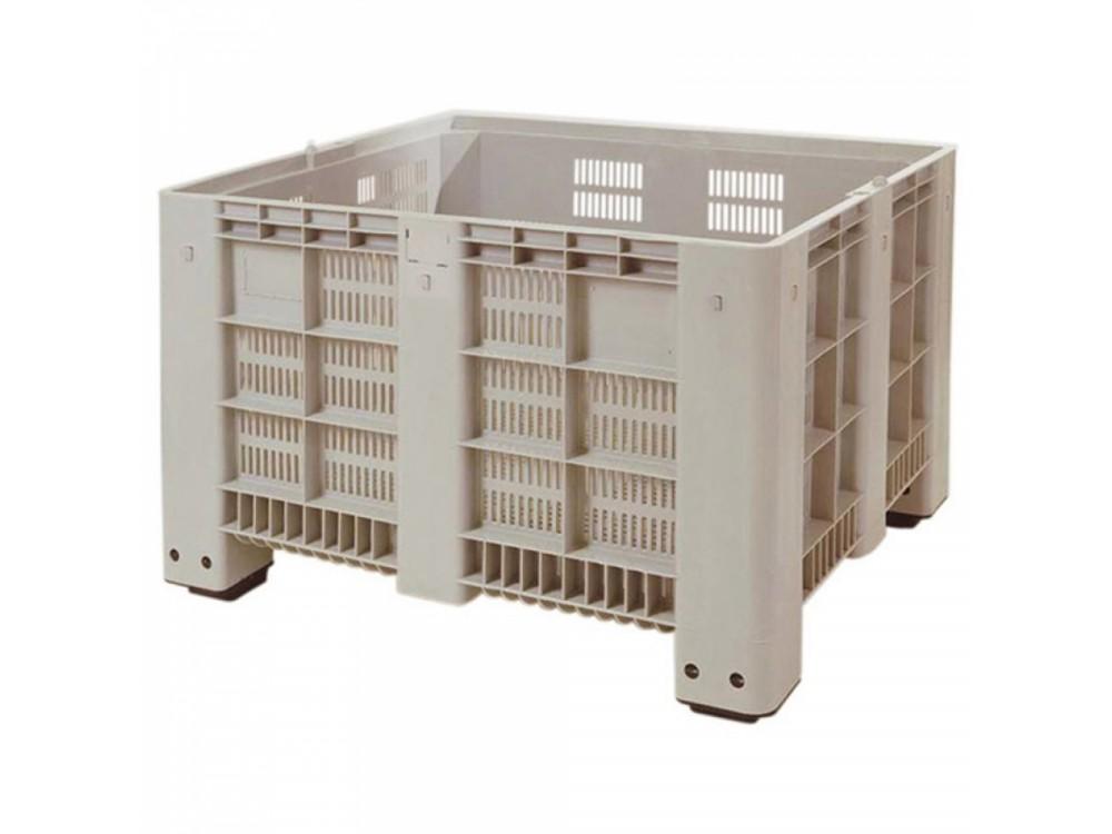 Cassone inforcabile e impilabile PEHD per ortofrutta CTP forato Box