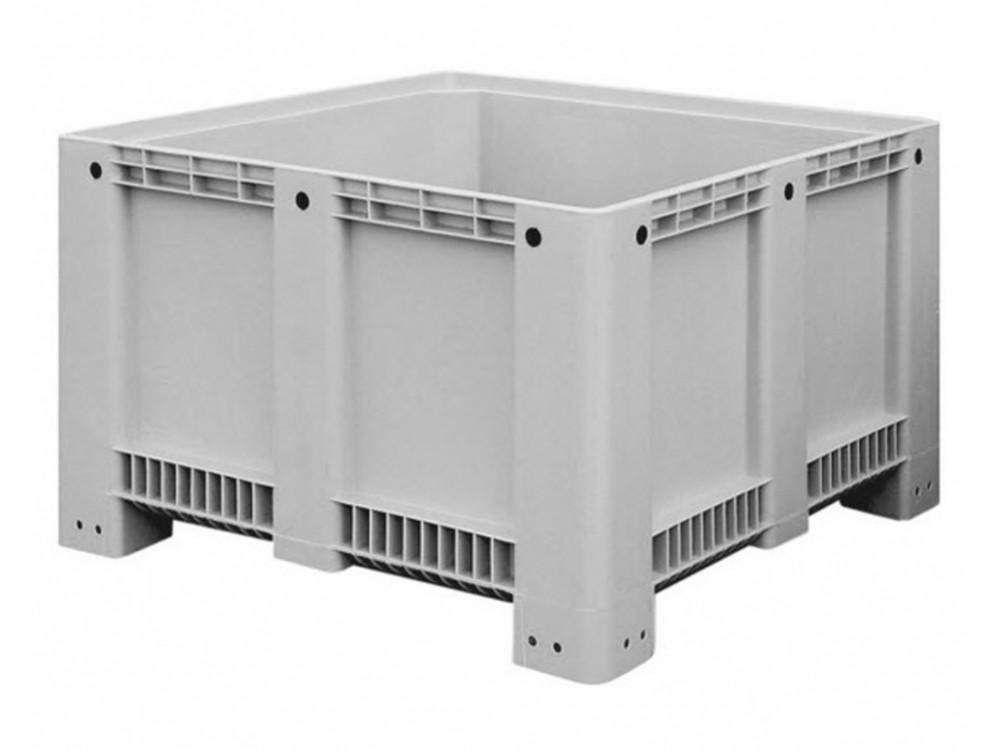 Contenitore in plastica industriale accatastabile inforcabile PEHD rettangolare CTS Box