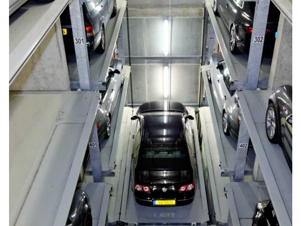 Sistema di parcheggio automatico  Parksafe 582 su 2 file uno dietro l'altra