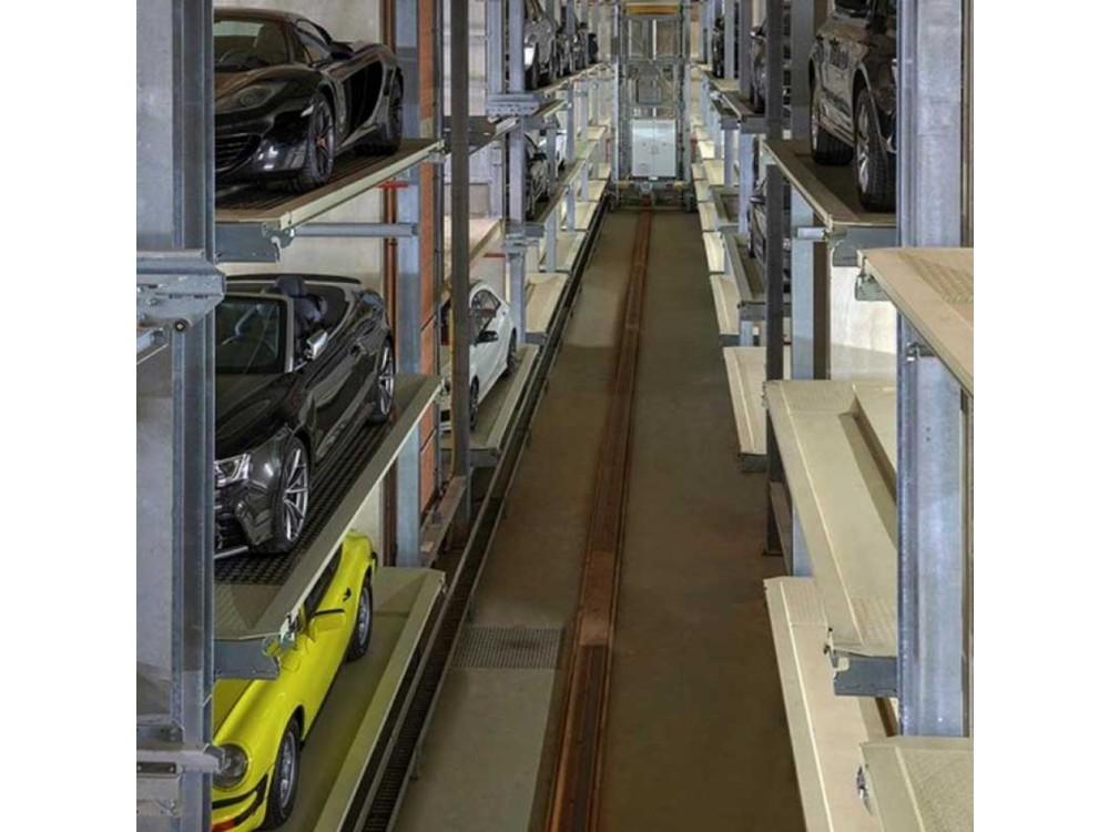 Sitema di parcheggio automatizzato Multiparker 740 a pallet per piante lunghe e strette