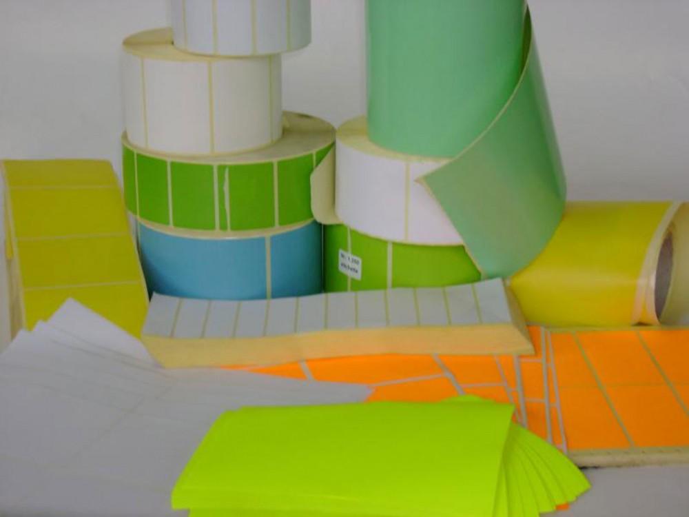 Etichette termiche, autoadesive, su rotolo a colori