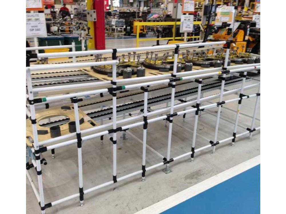 Struttura tubolare lean per area produttiva
