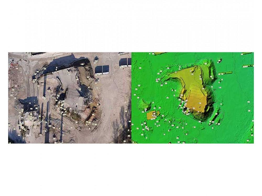 Rilievi aero-fotogrammetrici per la rilevazione di materiale