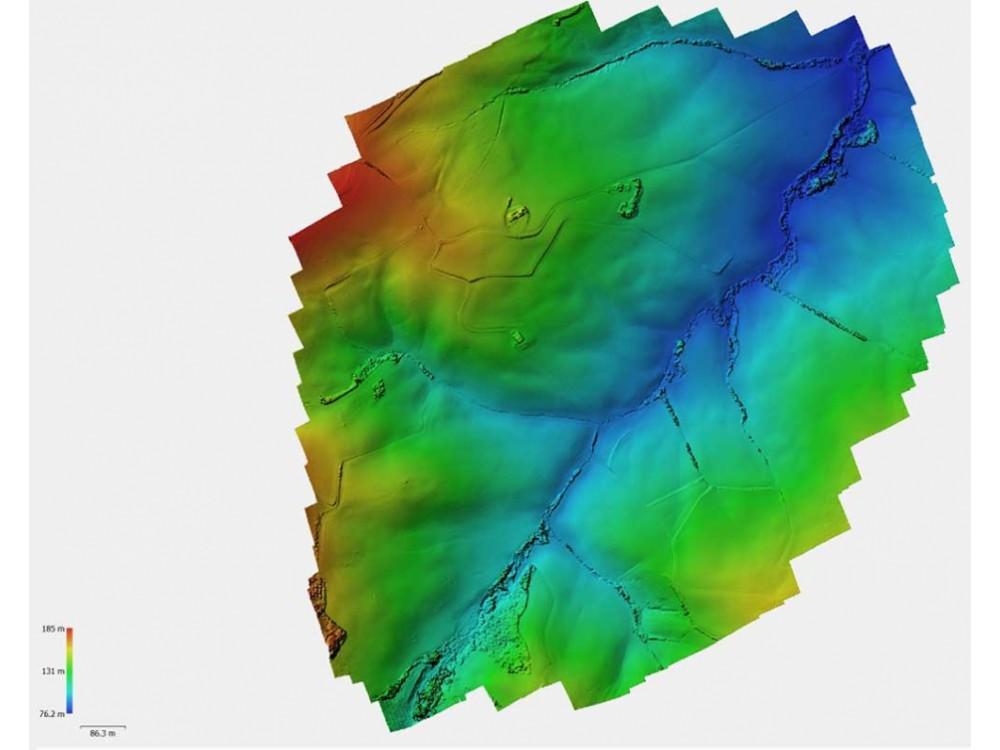 Rilievi geologici e idrogeologici con drone