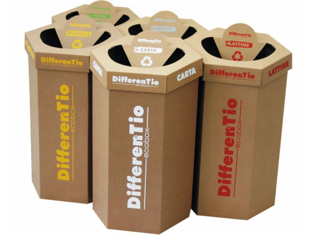 Raccoglitori eco-compatibili per la raccolta differenziata