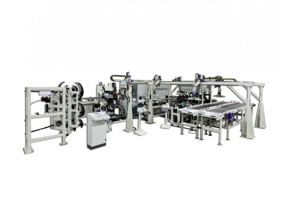 Cella automatica per la saldatura e profilatura di lamiere