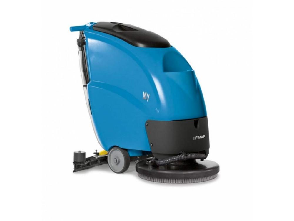 Lavasciuga pavimenti professionale elettrica con operatore a terra