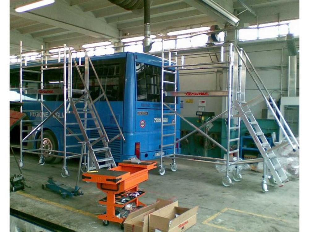 Trabattello speciale per manutenzione autobus