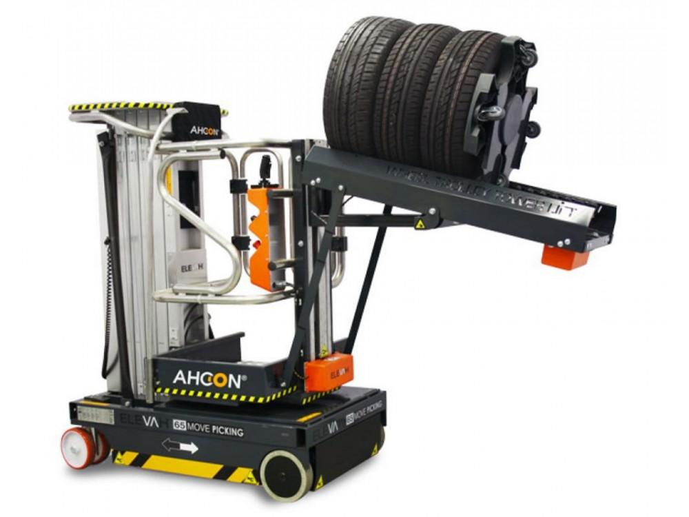 Piattaforma speciale per presa e stoccaggio pneumatici