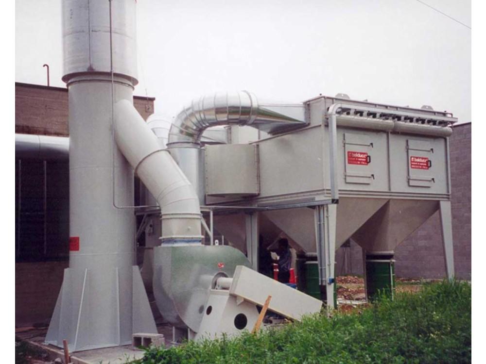 Depolveratore a cartucce con ventilatore centrifugo