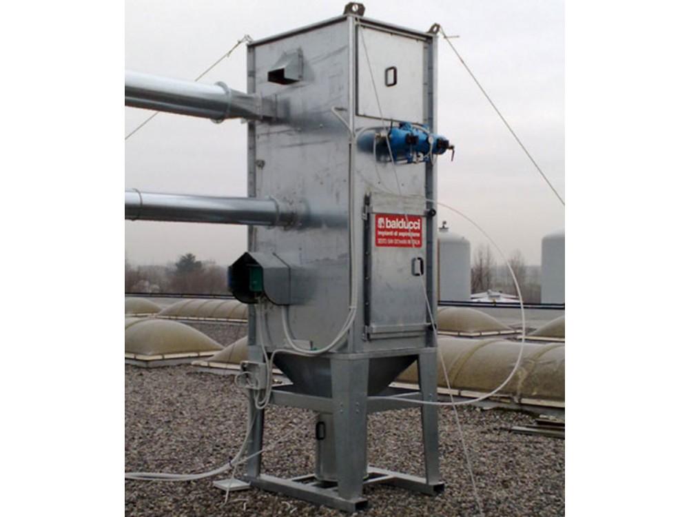 Filtrazione-aspirazione a cartucce verticali Compact