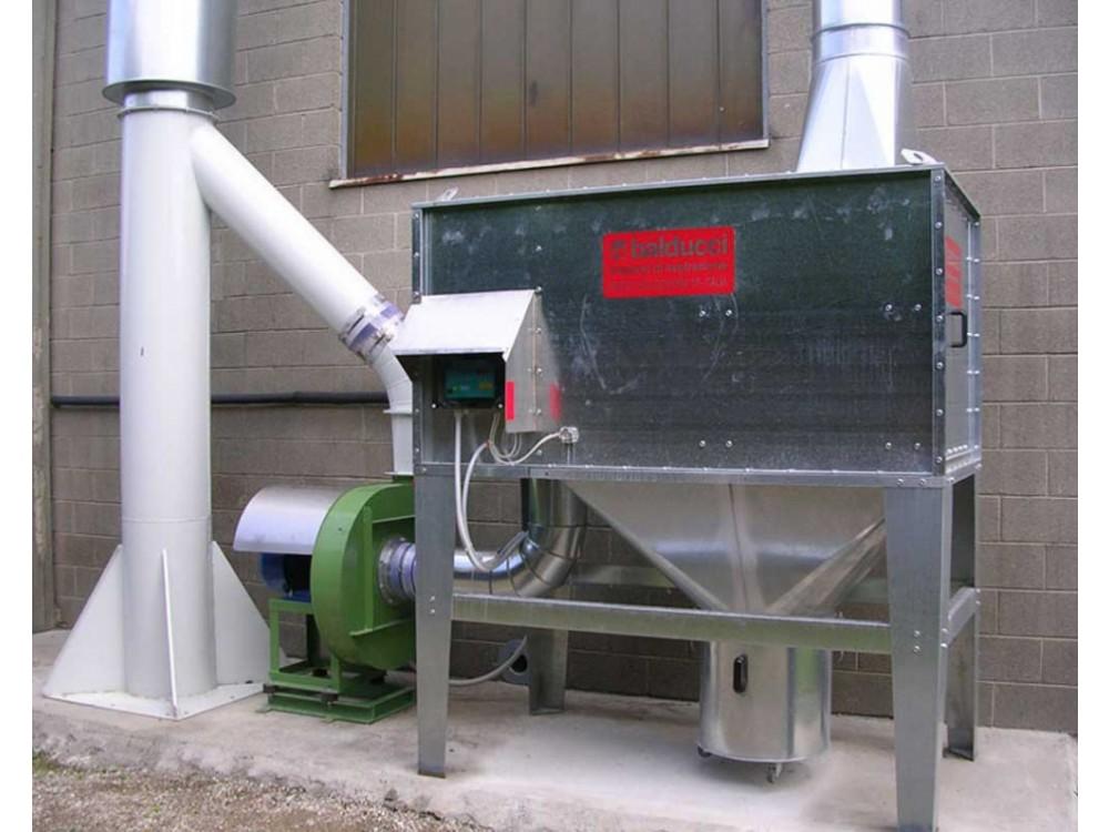 Filtro modulare a cartucce in lamiera zincata