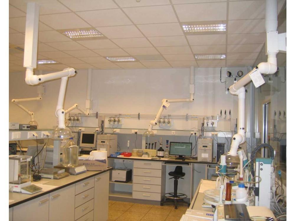 Bracci aspiranti per laboratori